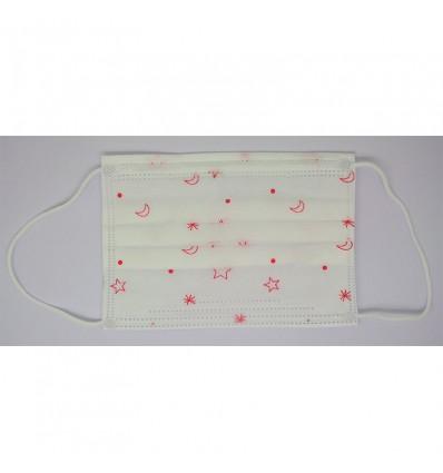 Mascarilla Higienica Infantil Blanca Estrellas 10 Unidades