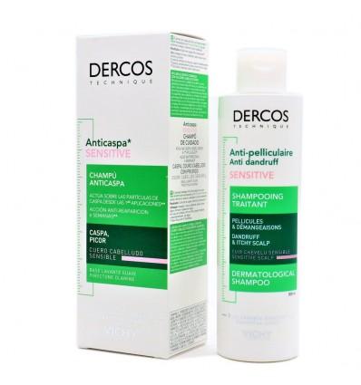 Dercos Shampoo Anticaspa Sensitive, Sem Sulfatos, 200ml