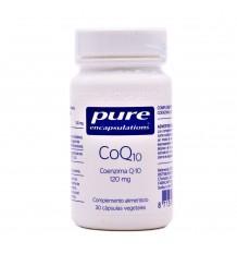 Reine Verkapselungen CoQ10 120 mg 30 Pflanzliche Kapseln