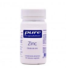 Pure Encapsulations Zinc 60 Cápsulas Vegetales