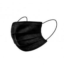 Máscara Higienica 3 Camadas Negra 10 Unidades