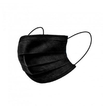 Mascarilla Higienica 3 Capas Negra 10 Unidades