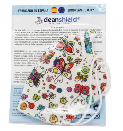 Deanshield Mascarilla Reutilizable Higienica Infantil Helados