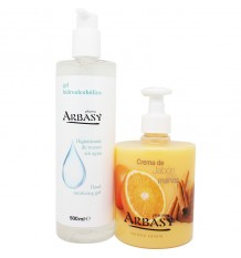 Pharma Arbasy Gel de Désinfection de 500 ml+Savon-Crème Mains Orange 500ml