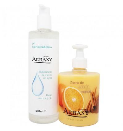 Pharma Arbasy Gel Higienizante 500ml+Crema Jabon Manos Naranja 500ml