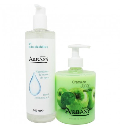 Pharma Arbasy Gel Higienizante 500ml+Crema Jabon Manos Manzana 500ml
