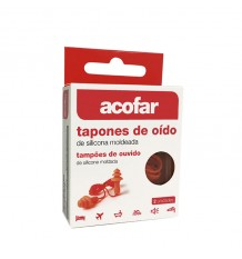 Acofar Plugs Ear Silicone Cordon 2 Units
