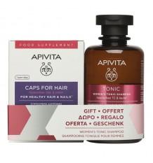 Apivita Capsules Cheveux Ongles 30 + Shampooing Anticaida Femmes 200ml