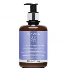 Apivita Cream Cleansing Foam Olive Lavender 300ml
