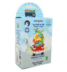Mask Reusable+Sanitizing 75% 100ml Eau My Dino