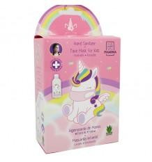 Máscara Reutilizável+Higienizante 75% 100ml Eau My Unicorn
