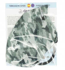 Deanshield Mask Reusable Higienica Adult Camouflage Grey