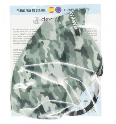 Deanshield Masque Réutilisable Higienica Adulte Camouflage Gris