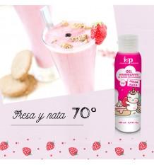 Iap Pharma Gel Higienizante Sem Enxaguar, Morango, Creme de leite 70º 100ml