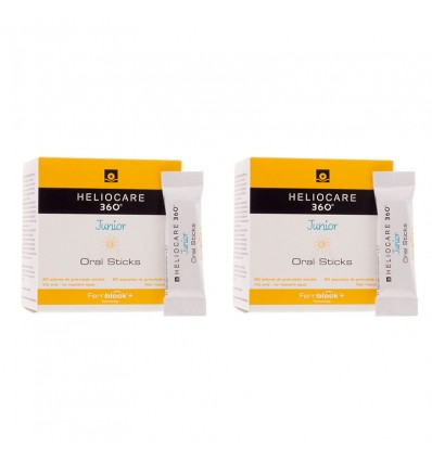 Heliocare 360 Junior Oral sticks 20+20 Sobres Duplo Promocion