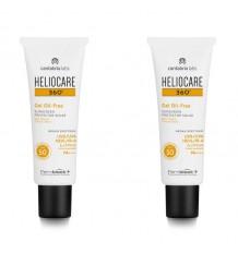 Heliocare 360 Gel Oil Free 50 50+50 ml Duplo Promoção