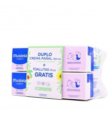 Mustela Creme, Balsam 100ml+100ml+Tücher 70 Stück