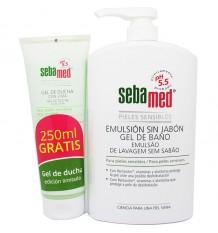 Sebamed Emulsion Without Soap 1000 ml + Shower Gel Lime 250ml