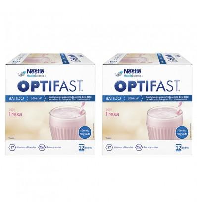 Optifast milk-Shake à la Fraise Duplo 24 enveloppes