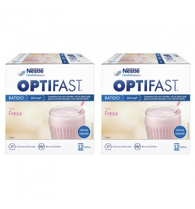 Optifast Milkshake Strawberry Duplo 24 envelopes