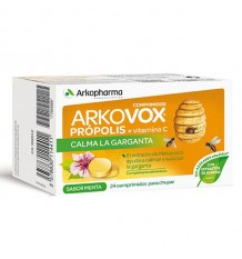 Arkovox Propolis and Vitamin c mint flavor 24 Tablets