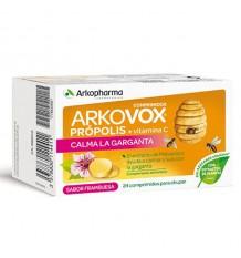Arkovox Propolis Vitamin C Raspberry 24 Tablets