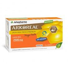 Arkoreal Gelée Royale Mega Forte de 2500 mg sans sucre 20 Ampoules