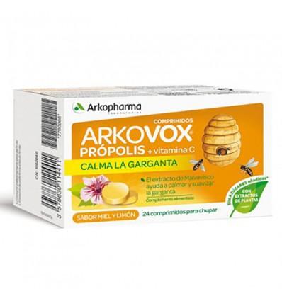 Arkovox Própolis y Vitamina c Miel 24 Comprimidos