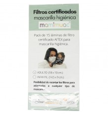 Mamimuac Filter Mask Higienica 15 Units Adult 18x10cm
