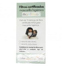 Mamimuac Filtro Máscara Higienica 15 Unidades Adulto 18x10cm