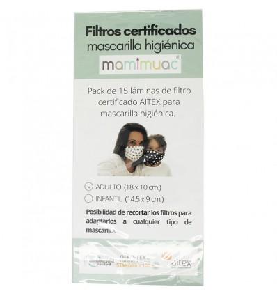 Mamimuac Masque filtrant Higienica 15 Unités Adulte 18x10cm