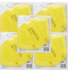 Mascarilla FFP2 NR Promask 1 Unidad Amarilla 5 Unidades