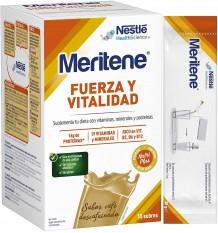 Meritene Cafe entkoffeiniert Kaffee 15 Beutel box und auf