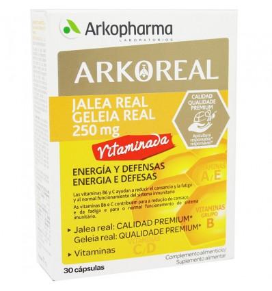 Arkoreal Jalea Real 250mg Vitaminada Energia Defensas 30 Capsulas