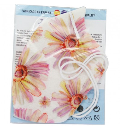 Deanshield Masque Réutilisable Higienica Adulte Fleurs Roses