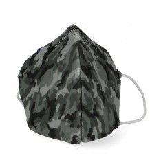 Deanshield Máscara Reutilizável Higienica Infantil Camuflagem Cinza