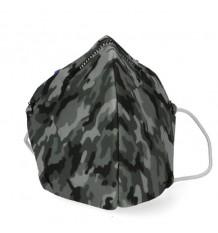 Deanshield Maske Wiederverwendbare Higienica Kind Camouflage Grau