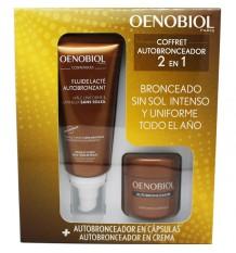 Oenobiol auto-bronzeador Caixa 30 Cápsulas Fluido auto-bronzeador 100 ml
