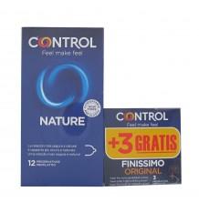 Control Kondome Natur 12 Stück + Finissimo 3 Einheiten