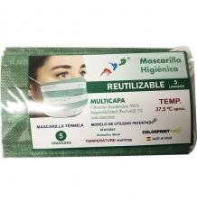 Máscara Higienica Térmica Detecção Temperatura Pack 5 Unidades
