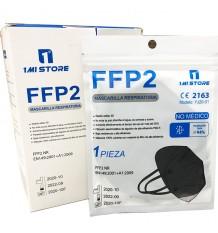 Máscara Ffp2 Nr 1MiStore Negra 20 Unidades Caixa Completa