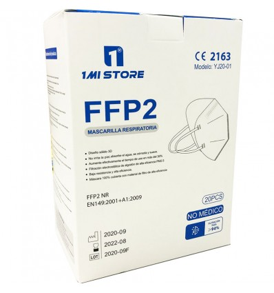 Masque Ffp2 Nr 1MiStore Blanc 20 Unités de Remplir la Case