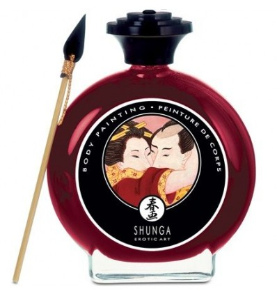 Shunga Pintura Corporal Morango Com Champanhe