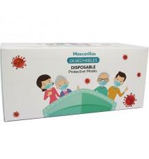 Mascarillas Higienicas Adulto Triple Capa Caja 50 Unidades comprar