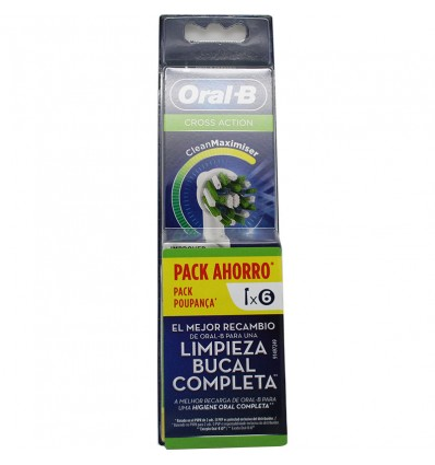 Recambios Oral B Crossaction 3+3 Pack Ahorro