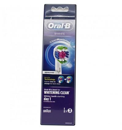 Recambios Oral B 3D White 3 Unidades