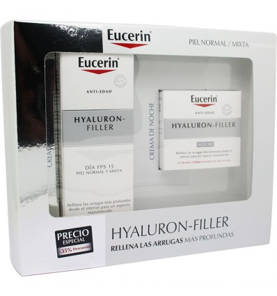 Eucerin Baú Hyaluron Filler Creme Dia Fps15 50ml + Creme Noite 50ml