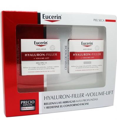 Eucerin Brust-Volumen-Filler Creme Trockene Haut 50 ml + Cream Nacht 50 ml