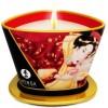 Shunga Bougie de Massage à la Fraise et Vin 170 ml