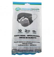 Mundosalud Masques Higienicas Gris Pack de 10 unités